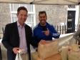 Jonathan Djanogly visits Huntingdon's Italian market