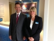 Jonathan Djanogly visiting the newly refurbished Fenstanton Travelodge with Manager Karen O'Dell to see the significant investme