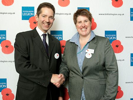 Jonathan Djanogly meets new Royal British Legion Area Manager, Kate Williams