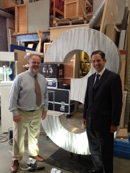 Jonathan with Mark Starling, Managing Director, of Korten Limited on a recent visit to their Exhibitions Company in St Ives