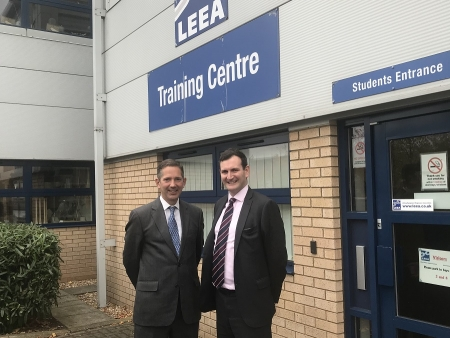 Jonathan Djanogly visits offices of The Lifting Equipment Engineers Association (LEEA)