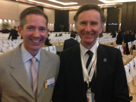 Jonathan Djanogly with Trade Minister Lord Green at the Parliamentary Conference on the WTO