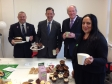 Jonathan Djanogly supporting Macmillan Cancer Support at a coffee morning organised by Huntingdonshire District Council.