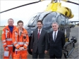 Magpas paramedic Rob Elias, Magpas Doctor Alistair Steel, Jonathan Djanogly MP and Ian Brooke, Chief Executive of Magpas