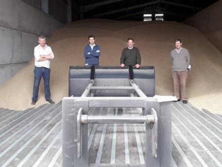 Jonathan visiting Huntingdon branch members of the National Farmers Union