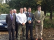 Jonathan meeting local members of the NFU in Abbots Ripton to discuss issues of concern