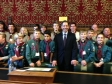 Jonathan Djanogly welcoming scouts and guides from Southoe, Buckden, The Offords and Brampton to the House of Commons.