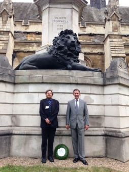 Jonathan Djanogly with Prof. Peter Gaunt, President of the Cromwell Association