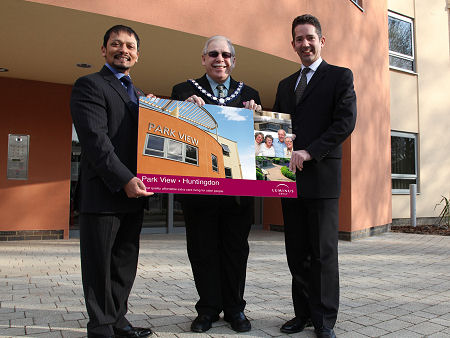 Jonathan attends opening of Park View with Cllr Jeff Dutton and Chan Abraham, Chief Executive of Luminus Group