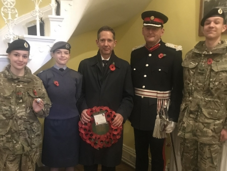 Jonathan Djanogly MP attending the 2018 St Ives Remembrance service and parade to pay his respects.