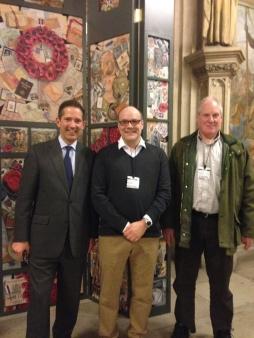 Jonathan Djanogly sponsors Kimbolton School teacher Richard Walker's artwork exhibition in Parliament