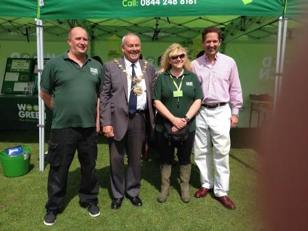 Jonathan visiting the Huntingdon Riverside Gala on Saturday 7th June and meeting representatives of Wood Green Animal Shelter