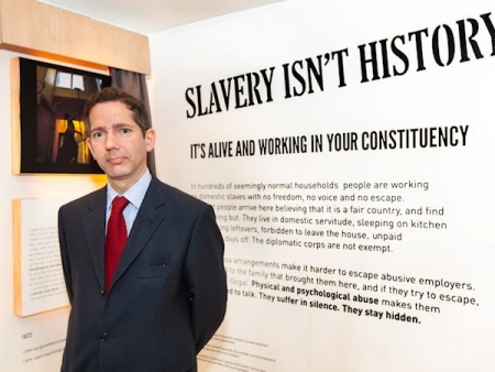 Jonathan Djanogly hears about the hidden nature of Modern Day Slavery
