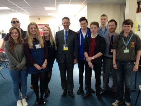 Jonathan debating the forthcoming European referendum with St Ivo School Sixth formers.