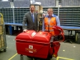 Jonathan Djanogly visits the St Neots Royal Mail Sorting Office on the last day for posting first class before Christmas