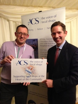 Jonathan with local retailer Steve Male from Male's Budgens of St Ives at Parliament