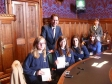 Jonathan Djanogly meets students from St. Peter's School Huntingdon as part of the Kick Ash campaign