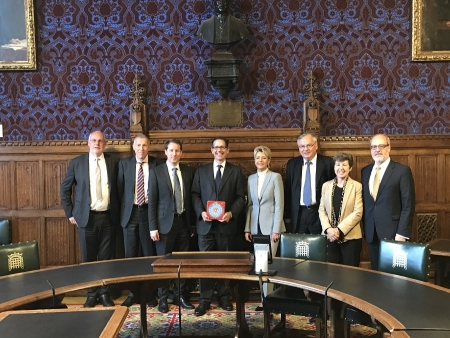 Jonathan meeting the Swiss Ambassador and members of Switzerland's EU Committee to discuss Brexit.