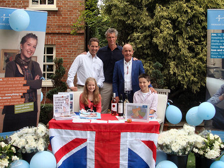 With British Olympian Mark Foster support the Teenage Cancer Trust in St Neots