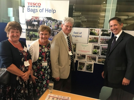 Jonathan Djanogly welcomes Tesco Bags of Help sponsorship of care garden