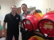 Jonathan with Rob Taylor from The Red Brewery at the launch of promotional beer 'MP's Brew'.
