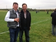 Jonathan Djanogly MP with Tim Furbank, President of Huntingdon Rugby Club at the Stags vs. Peterborough match