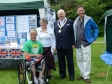 Jonathan Djanogly with Sean Rose and Mayor of St Neots, Andrew Hansard at the 2014 St Neots Time Bank Family Fun Day.