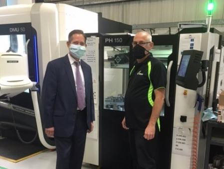 Jonathan Djanogly visits local company Titan