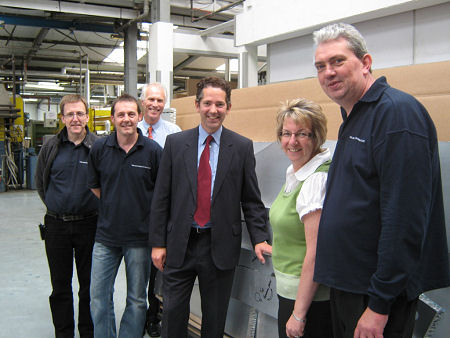 Jonathan Djanogly MP meeting with the management team of Huntingdon based business TRB Lightweight Structures