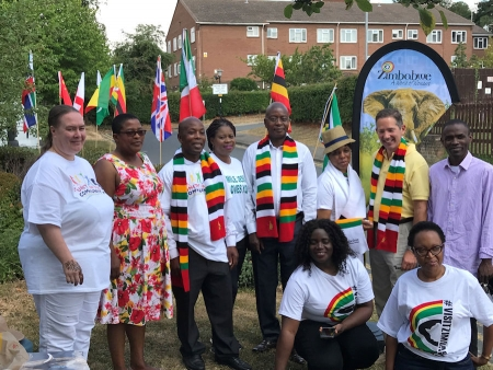 Jonathan supporting Huntingdon's 2018 Unity in the Community event at the Medway Centre.