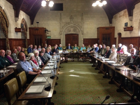 Jonathan hosting a St Ives U3A visit to the House of Commons.